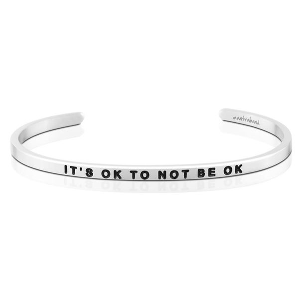 It's OK To Not Be OK Bangle Bracelet E.M. Family Smith Jewelers Chillicothe, OH