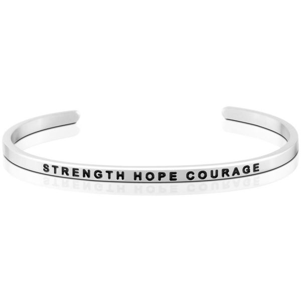 Strength Hope Courage Bangle Bracelet E.M. Family Smith Jewelers Chillicothe, OH