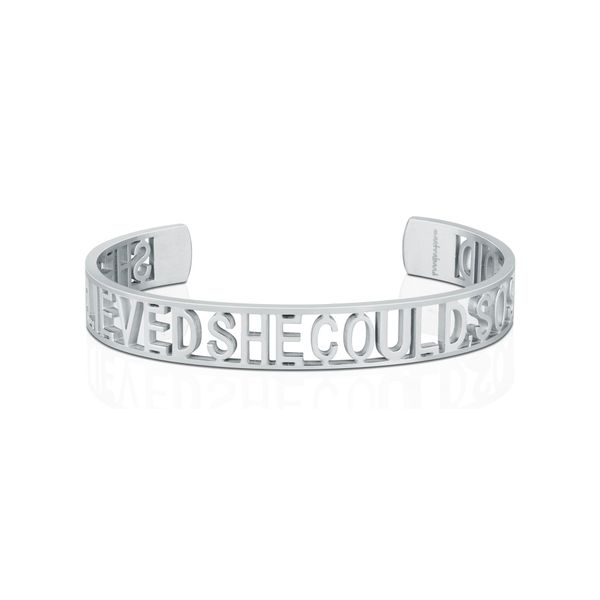 She Believed She Could, So She Did Bangle Bracelet E.M. Family Smith Jewelers Chillicothe, OH