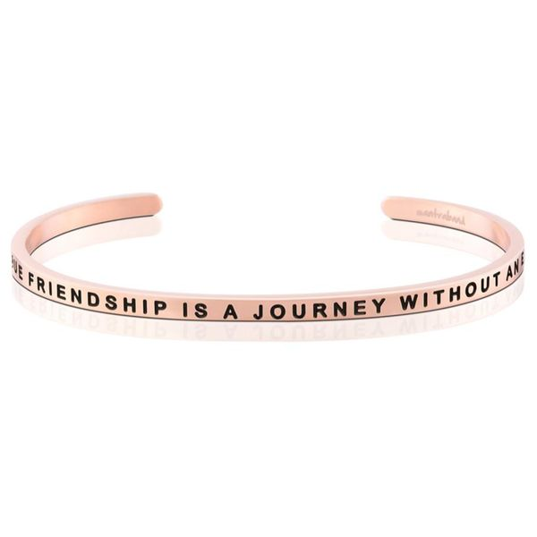 A True Friendship Is A Journey Without An End Bangle Bracelet E.M. Family Smith Jewelers Chillicothe, OH