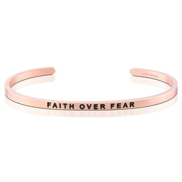 Faith Over Fear Bangle Bracelet E.M. Family Smith Jewelers Chillicothe, OH