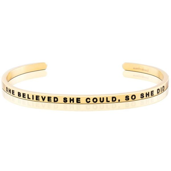 She Believed She Could Bangle Bracelet E.M. Smith Family Jewelers Chillicothe, OH