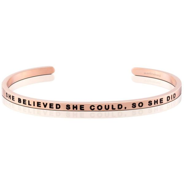 She Believed She Could, So She Did Bangle Bracelet E.M. Smith Family Jewelers Chillicothe, OH