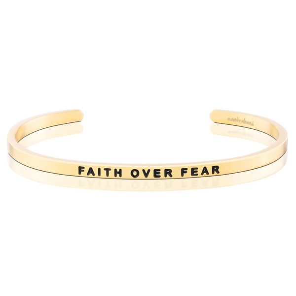 Faith Over Fear Bangle Bracelet E.M. Smith Family Jewelers Chillicothe, OH
