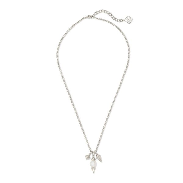 Kendra Scott Demi Silver Charm Necklace Image 2 E.M. Smith Family Jewelers Chillicothe, OH