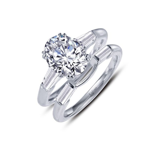 Wedding Set with Oval Simulated Diamond Center