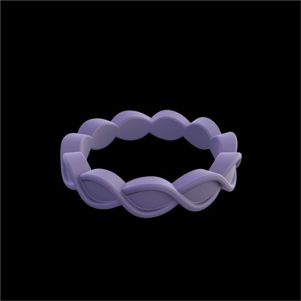 QALO Standard Women's Mauve Eternity Silicone Ring. Size 8.0 E.M. Family Smith Jewelers Chillicothe, OH