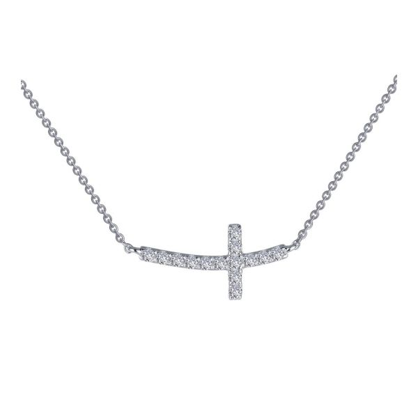Sideways Curved Cross Necklace E.M. Family Smith Jewelers Chillicothe, OH