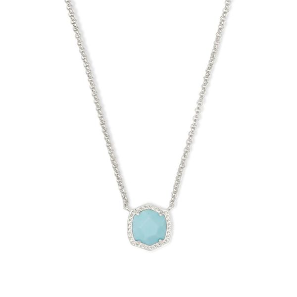 Kendra Scott Davie Silver Pendant Necklace E.M. Smith Family Jewelers Chillicothe, OH