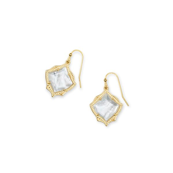 Kyrie Gold Drop Earrings in Ivory Mother-of-Pearl E.M. Smith Jewelers Chillicothe, OH