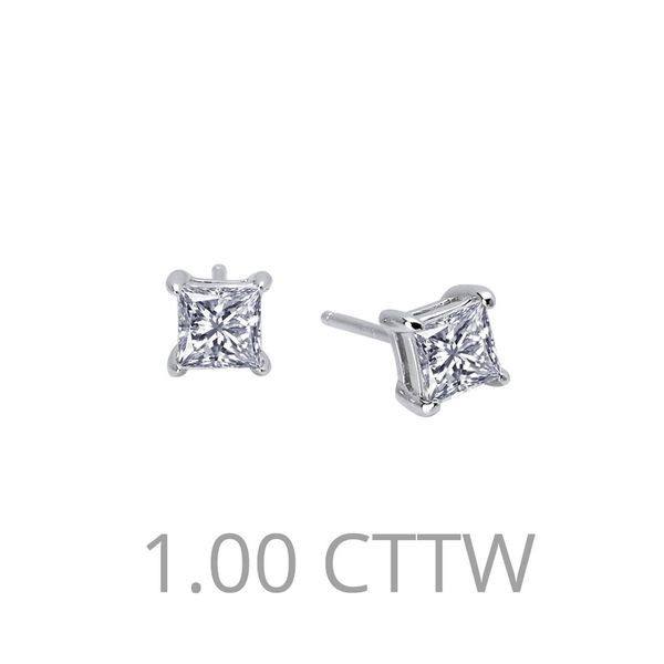 1 Carat Princess-Cut Stud Earrings E.M. Family Smith Jewelers Chillicothe, OH
