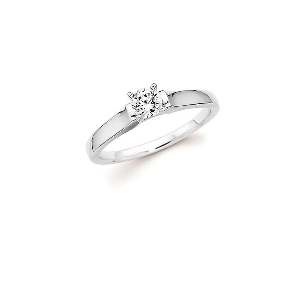 Cathedral Solitaite engagement ring Enhancery Jewelers San Diego, CA