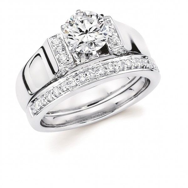 Cathedral Diamond Engagement Ring Enhancery Jewelers San Diego, CA