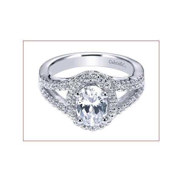 Gabriel & Co ER5867 diamond halo  engagement ring Enhancery Jewelers San Diego, CA