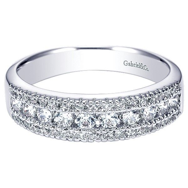 Gabriel & Co  WB3952) diamond wedding band Enhancery Jewelers San Diego, CA