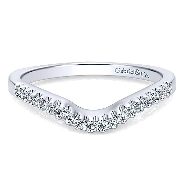 Gabriel & Co WB4179   White Gold shadow wedding band Enhancery Jewelers San Diego, CA