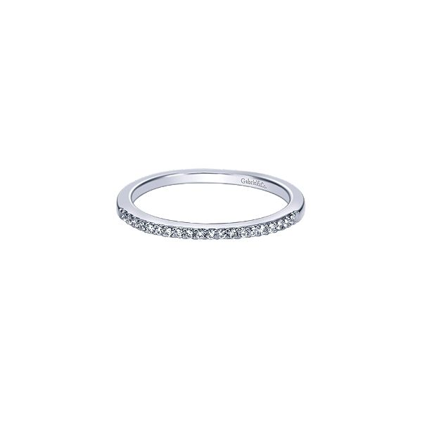 Gabriel & Co  WB4285 Lady's 14k White Gold Half Anniversary Wedding Band Enhancery Jewelers San Diego, CA