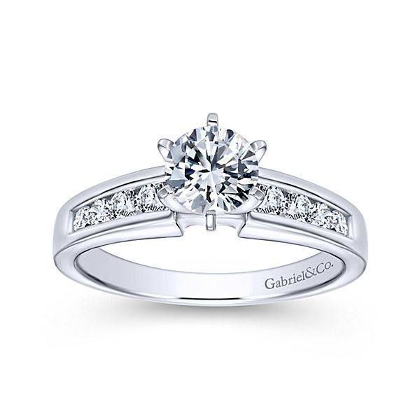 Gabriel Diamond Engagement Ring ER2200 Enhancery Jewelers San Diego, CA