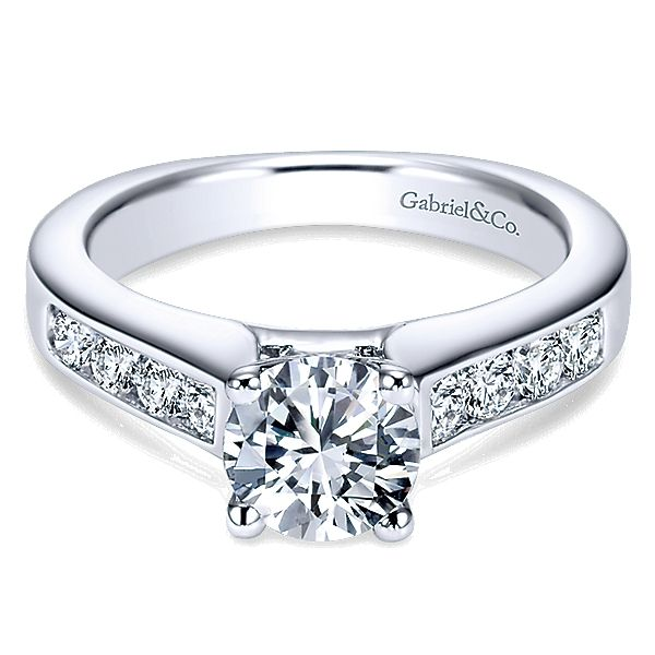 Gabriel ER3962 Lady's Diamond Engagement Ring Enhancery Jewelers San Diego, CA