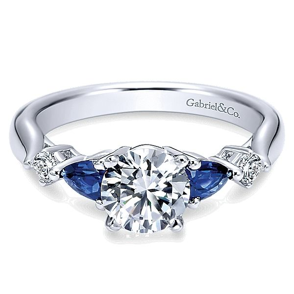 Gabriel ER6002 Diamond 14K White Gold Engagement Ring Enhancery Jewelers San Diego, CA