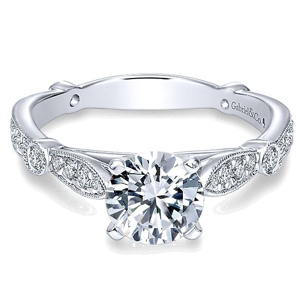 Gabriel ER6711  14K White Gold Diamond Engagement Ring Enhancery Jewelers San Diego, CA