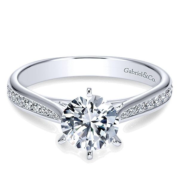 Gabriel ER7229 14K White Gold Diamond Engagement Ring Enhancery Jewelers San Diego, CA