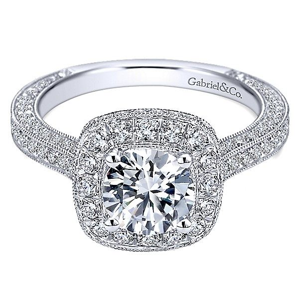 Gabriel ER7256 14K White Gold Engagement Ring Enhancery Jewelers San Diego, CA