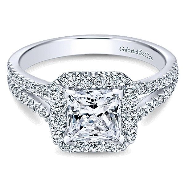 Gabriel ER7277 14K White Gold Diamond Engagement Ring Enhancery Jewelers San Diego, CA