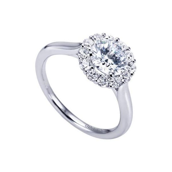 GABRIEL ER7498 14K White Gold Diamond Engagement Ring Enhancery Jewelers San Diego, CA
