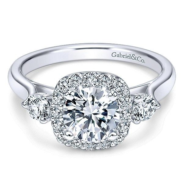 Gabriel ER7510 14K White Gold Engagement Ring Enhancery Jewelers San Diego, CA