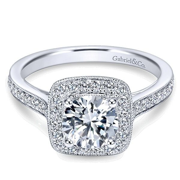 Gabriel ER7525 14K White Gold Diamond Engagement Ring Enhancery Jewelers San Diego, CA