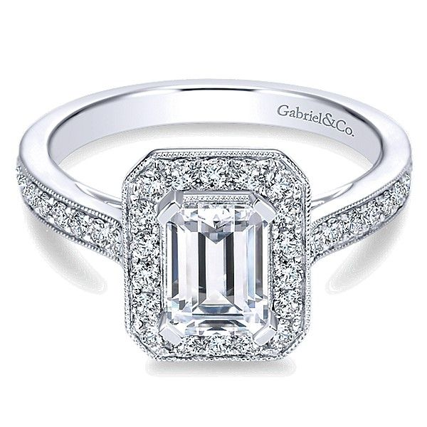 Gabriel ER7528 14K White Gold Diamond Engagement Ring Enhancery Jewelers San Diego, CA