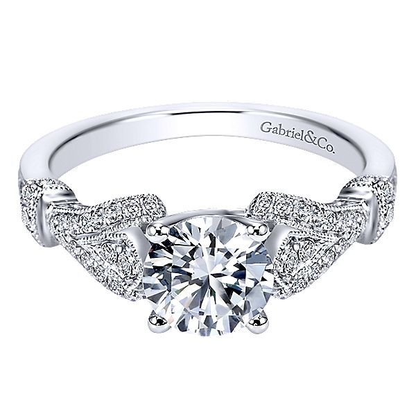 Gabriel ER7531 14K White Gold Diamond Engagement Ring Enhancery Jewelers San Diego, CA