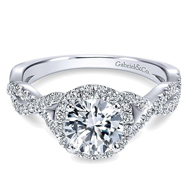 Gabriel ER754364= .14K White Gold Diamond Engagement Ring Enhancery Jewelers San Diego, CA