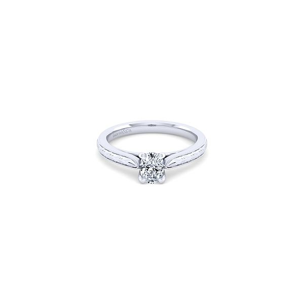 Gabriel ER8691 14K White Gold Solataire Engagement Ring, Enhancery Jewelers San Diego, CA