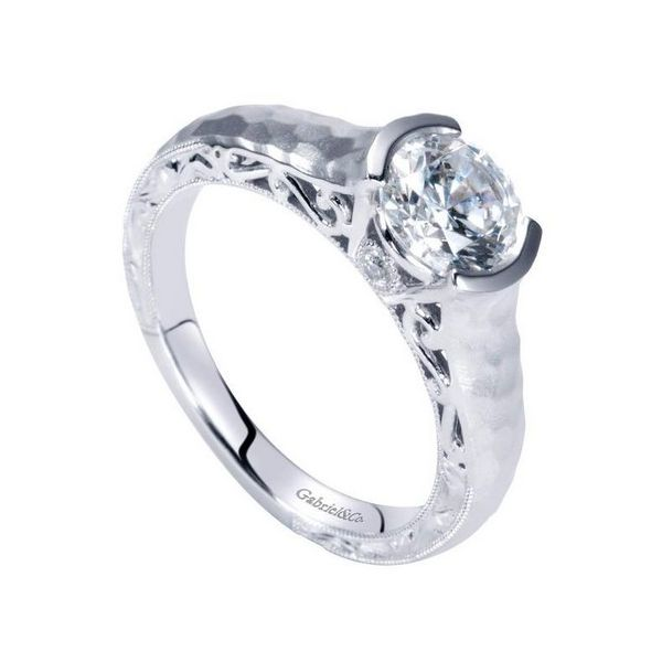 Gabriel ER9058 14K White Gold Engagement Ring, Image 2 Enhancery Jewelers San Diego, CA