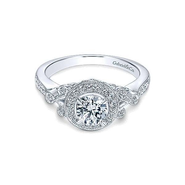 Gabriel ER4156 14K White Gold Engagement Ring Enhancery Jewelers San Diego, CA