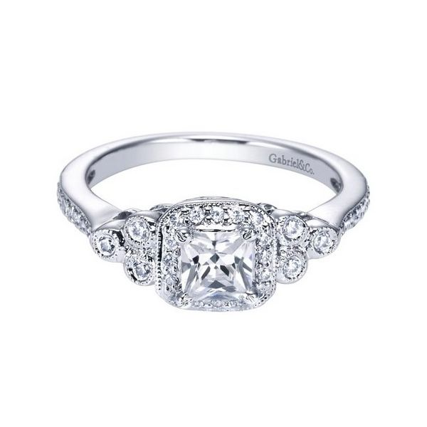 Gabriel ER4158 14K White Gold Engagement Ring Enhancery Jewelers San Diego, CA