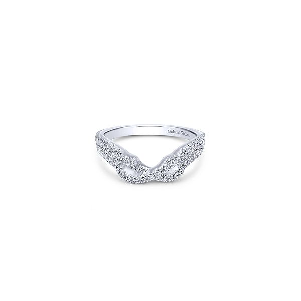 Gabriel AN11005 14K White Gold Contour Anniversary Ring Enhancery Jewelers San Diego, CA
