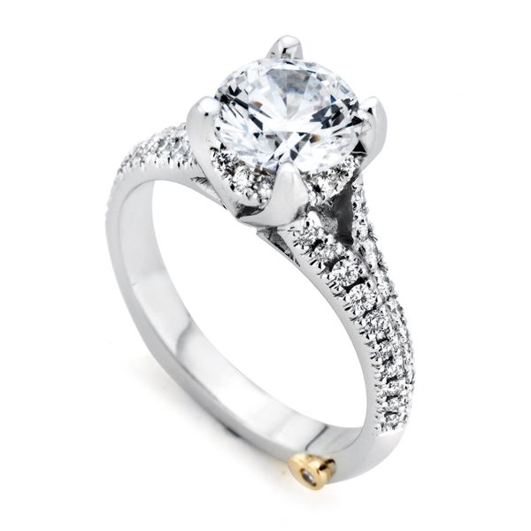 MARK SCHNEIDER KINDLE  19805  Ladies 14k  White Gold Split Shank  Diamond Engagement Ring Enhancery Jewelers San Diego, CA