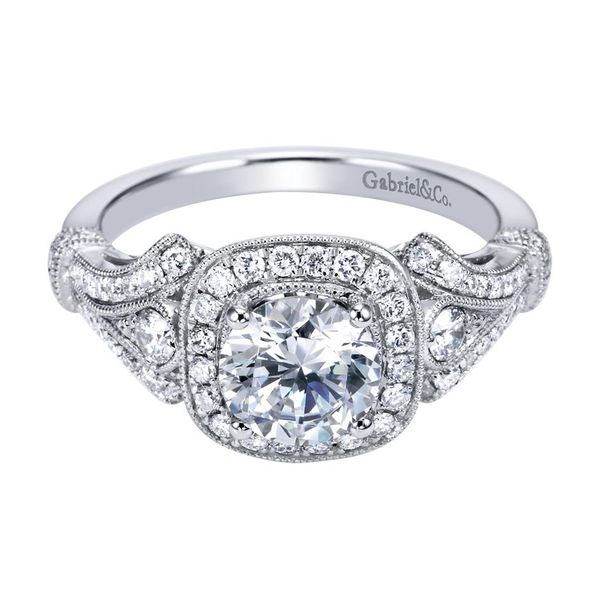 Gabriel ER7479 14K White Gold Engagement Ring Enhancery Jewelers San Diego, CA
