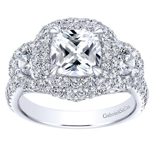 Gabriel ER8470  14K White Gold Diamond Engagement Ring Enhancery Jewelers San Diego, CA