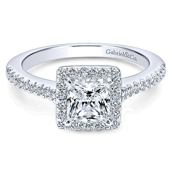 Gabriel 5825 14K White Gold Diamond Engagement Ring Enhancery Jewelers San Diego, CA