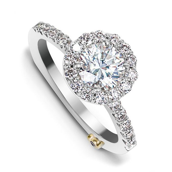 MARK SCHNEIDER SENTIMENT 17390  White Gold Diamond  Engagement Ring Enhancery Jewelers San Diego, CA