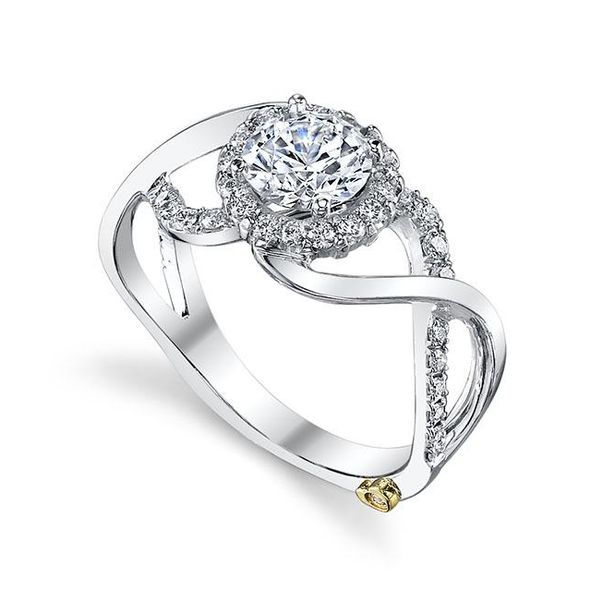 MARK SCHNEIDER OPULENT 17265  Ladies 14 k White Gold Diamond  Engagement Ring Enhancery Jewelers San Diego, CA