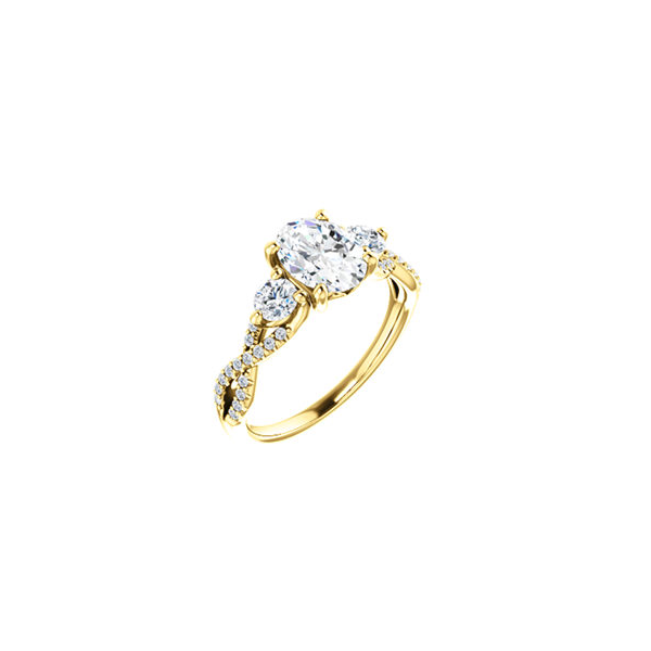 Yellow gold diamond engagement ring Enhancery Jewelers San Diego, CA