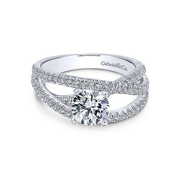 Gabriel ER10204 14K White Gold Diamond Engagement Ring, Enhancery Jewelers San Diego, CA