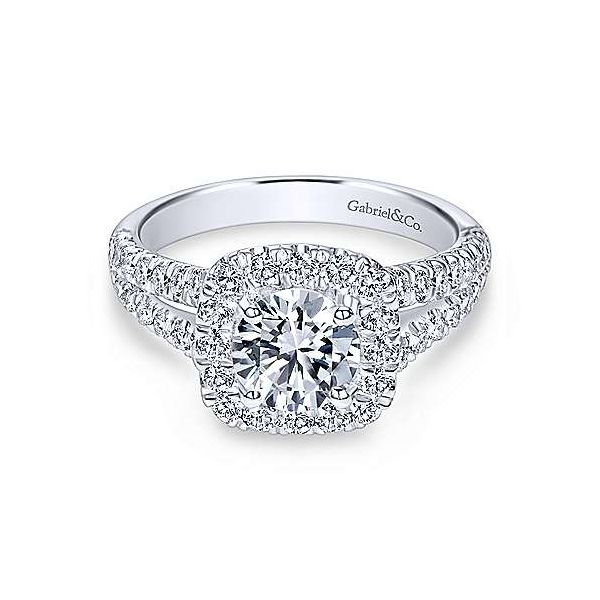 Gabriel ER 10252, 14K White Gold Diamond Engagement Ring, Enhancery Jewelers San Diego, CA