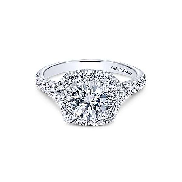 Gabriel & Co ER10290 14K White Gold Engagement Ring Enhancery Jewelers San Diego, CA