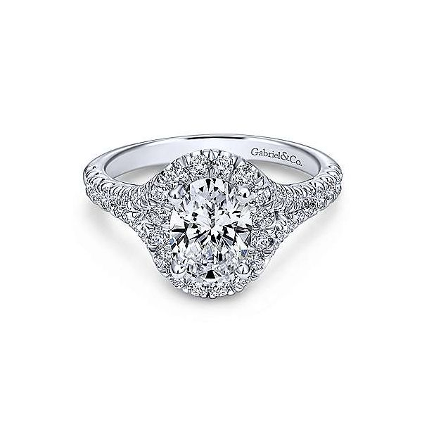Gabriel & Co.ER10291 14K White Gold Diamond Engagement Ring Enhancery Jewelers San Diego, CA